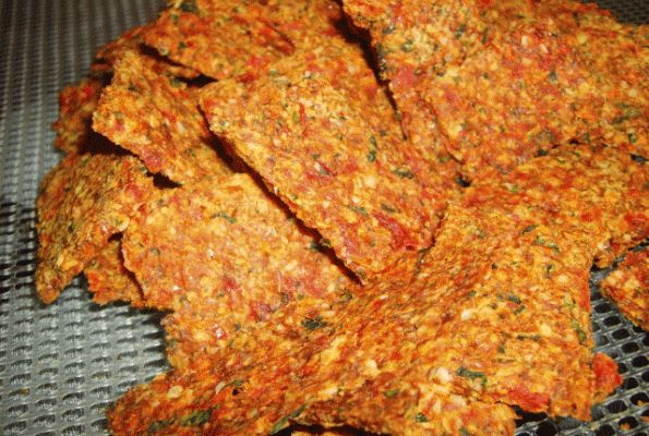 Southwest Flax Crackers | VegWeb.com, The World's Largest Collection of Vegetarian Recipes