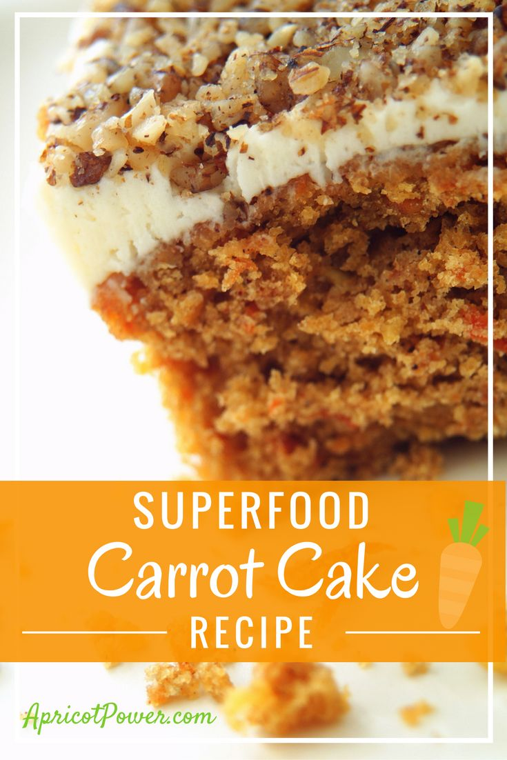 SuperFood Pumpkin Spice Carrot Cake Recipe! Ingredients: 1 1/2 C Sugar ...