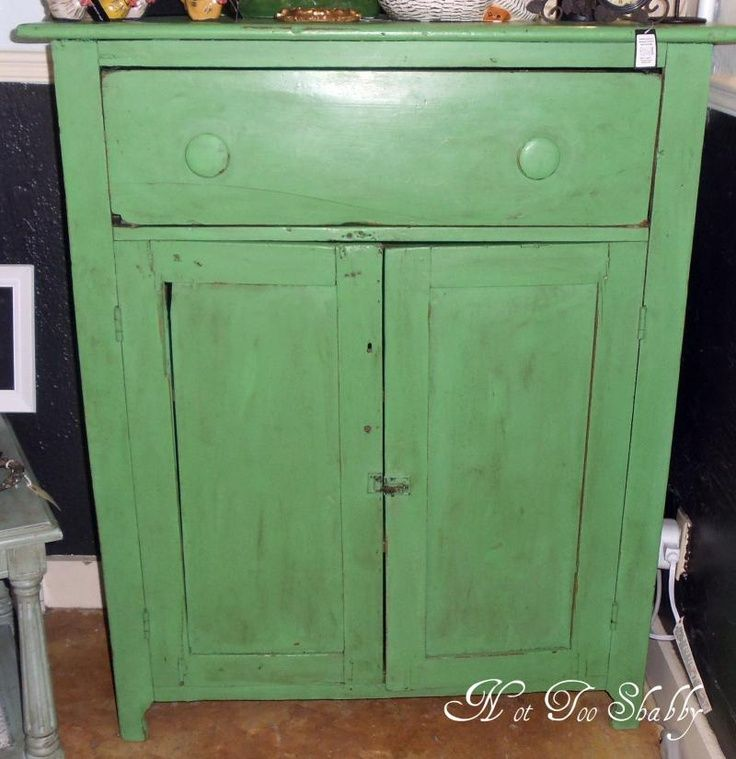 Chalk Paint Techniques For Kitchen Cabinets: Annie Sloan Antibes Green Painted Furniture