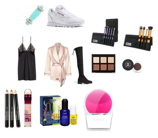 """uk wishes"" by marssysl on Polyvore featuring Anastasia Beverly Hills, Reebok, Smashbox, Maybelline, Kiehl's, FOREO and Agent Provocateur"