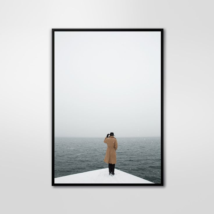 Corner Sea, Color Photography, Art Print, Wall Decor, Abstract Large Poster, Modern, Minimalist by PrintingDots on Etsy
