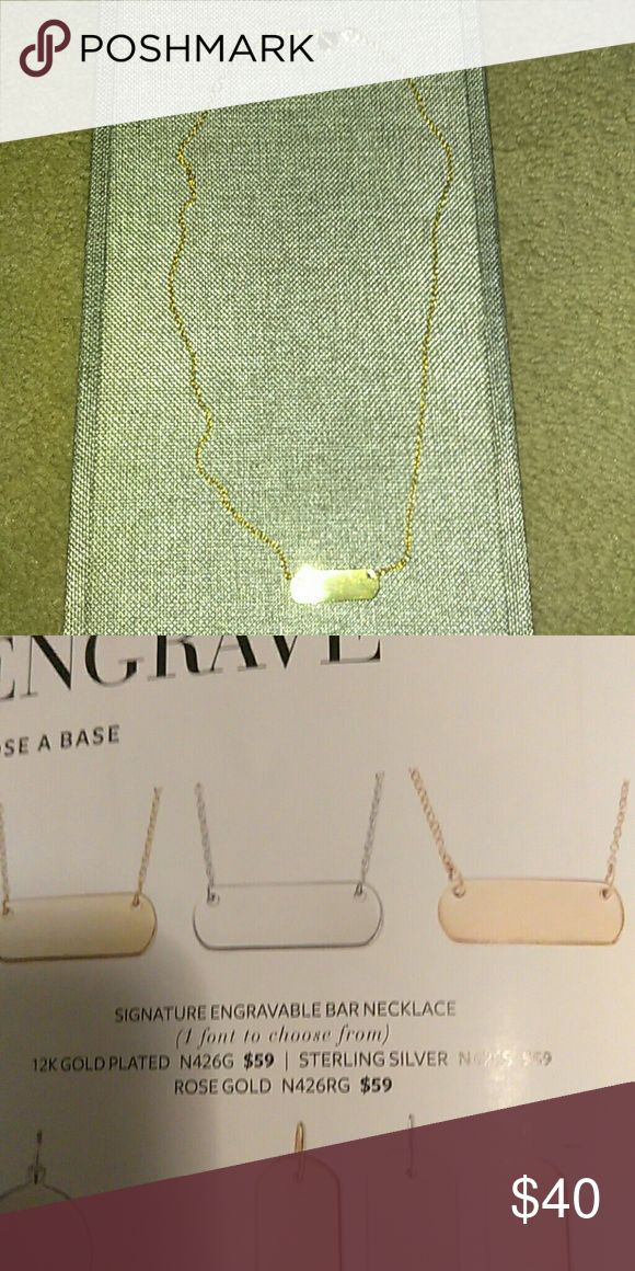 Stella and Dot necklace Gold Stella and Dot necklace that is engravable Stella & Dot Jewelry Necklaces
