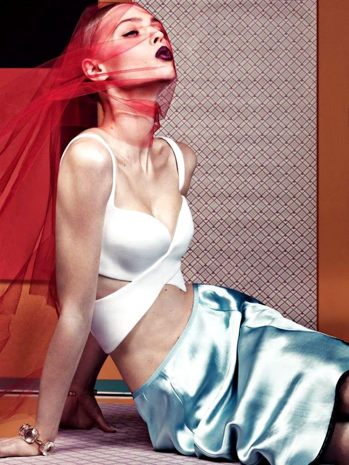 Sasha Pivovarova   Photography by Craig McDean   For Interview Magazine   April 2013