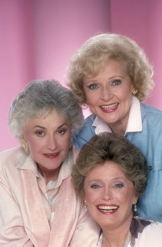 Bea Arthur, Betty White, and Rue McClanahan. 'Dorothy, Rose & Blanche', always golden girls.