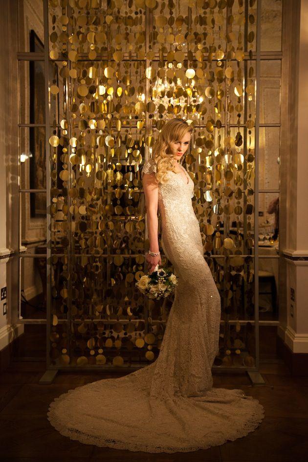 Elegant Black and Gold 1920's Wedding Inspiration