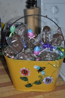 Home made chocolate easter basket