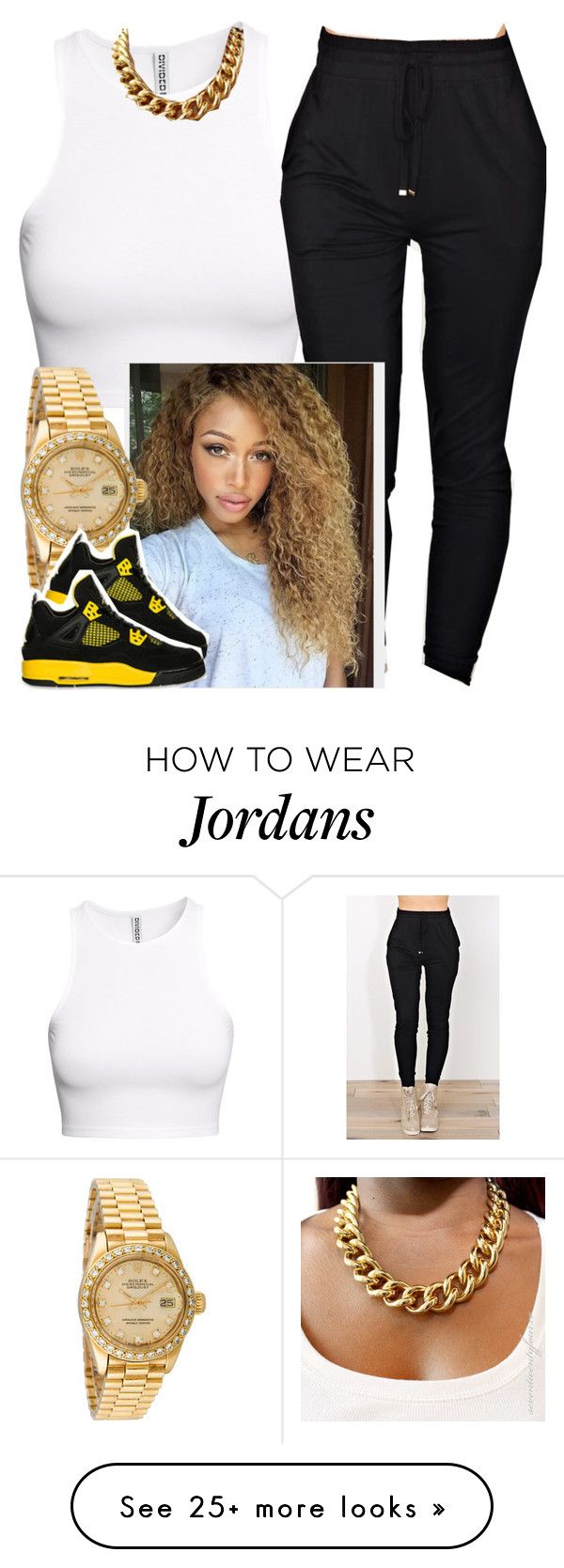 """""""✨"""" by newtrillvibes on Polyvore featuring H&M, Rolex, women's clothing, women, female, woman, misses and juniors"""