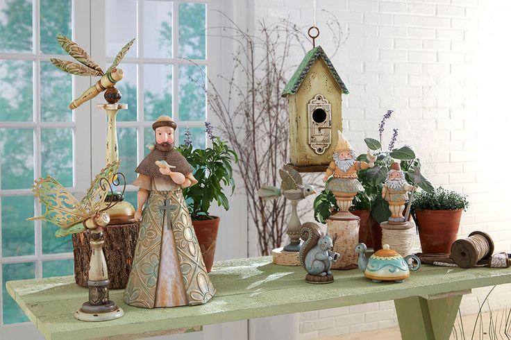 New garden scene compliments of Jim Shore.
