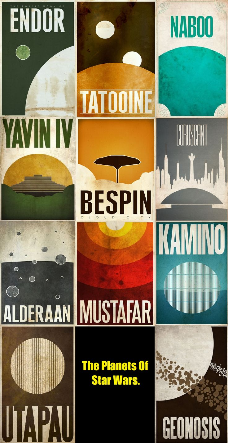 So Awesome! star wars minimalist poster planets