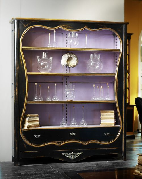 I love French furniture Look at the purple black and