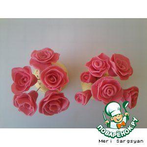Розы из мастики из подручных материалов