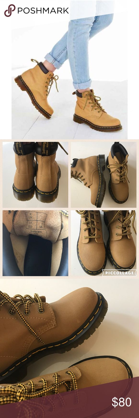 """NWOB suede Dr. martens 939 Brand new never worn Dr. Martens 939. Don't come with original box. Size UK4=US6 woman. Round toe. Suede construction. Lace up vamp. Padded collar. Back pull tab. Contrast stitched welt. Approx 5.5"""" shaft height. Approx 1.25"""" heel, 5/8"""" platform Dr. Martens Shoes Combat & Moto Boots"""