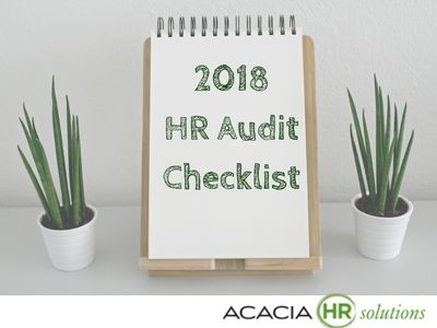 Human Resource Management Internal HR Audit Sample Report Format PDF