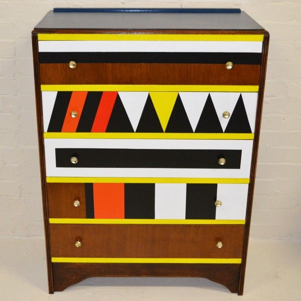 A Fantastic 'Geometric' 1950's Utility Chest