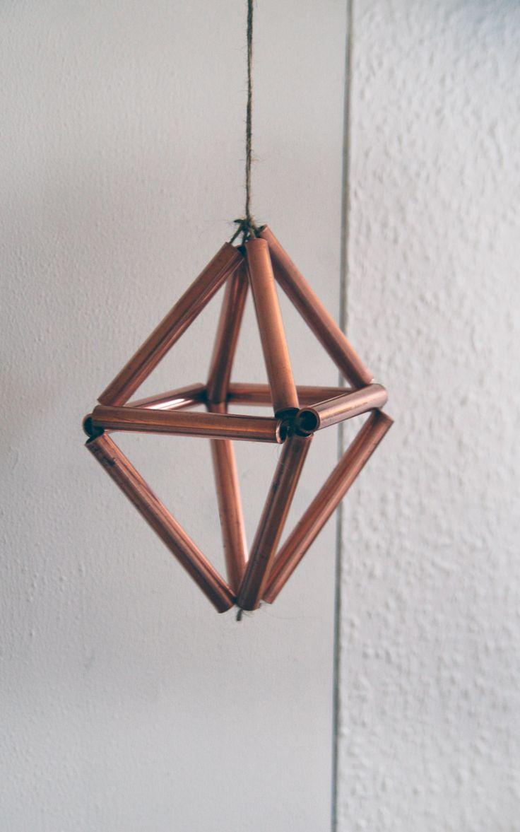 DIY kobber himmeli christmas ornament. Silvan Hacks by Anna Karnov