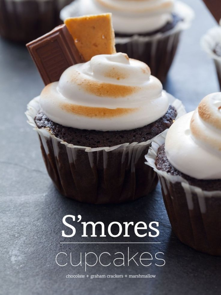 Smore Cupcakes. I need to try this!!