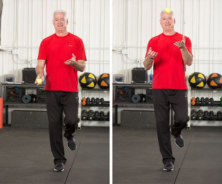 Coordination exercises for active aging clients Senior