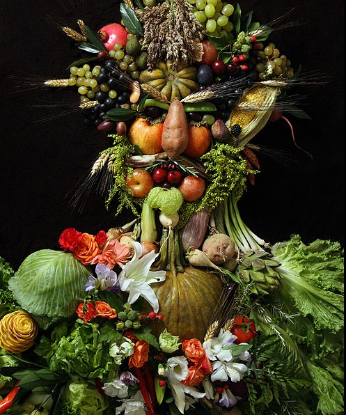 Portraits Made of Fruits, Flowers and Vegetables - My Modern Metropolis