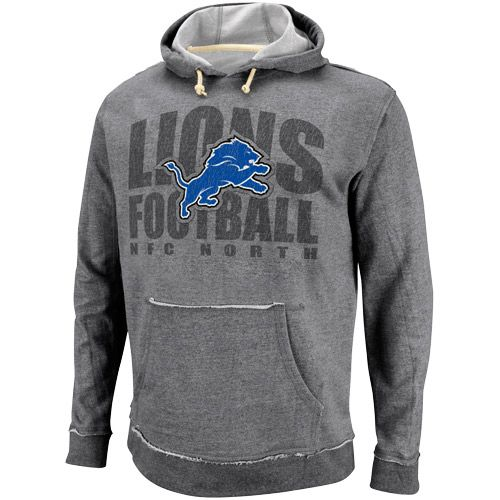 NFL Detroit Lions Crucial Call Heathered Hoodie - Ash