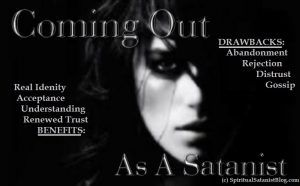 Coming out as a Satanist is not Easy.. Some TIPS