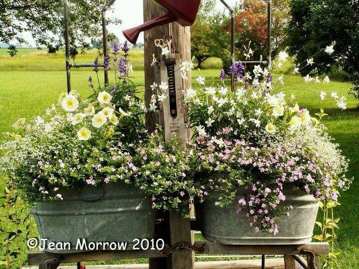 Flea Market Gardening Jean Butcher Morrow My Other Wash Tubs.