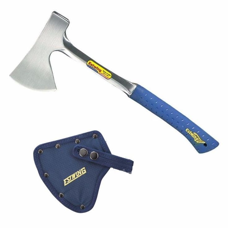 Estwing Camper's Axe with Sheath - SHOCK REDUCTION GRIP #estwing #botanex #botanexstore #qualityproducts #outdoors #camping #glamping #consciousshopping #campingaxe