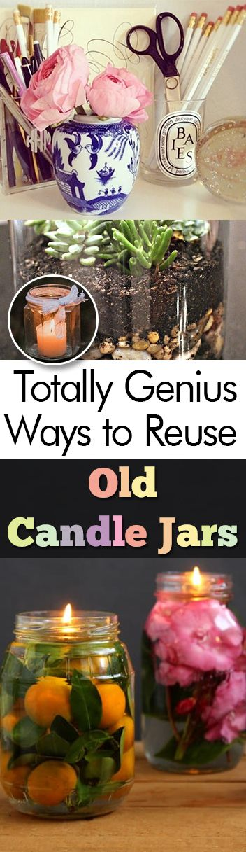 Totally Genius Ways to Reuse Old Candle Jars - My List of Lists