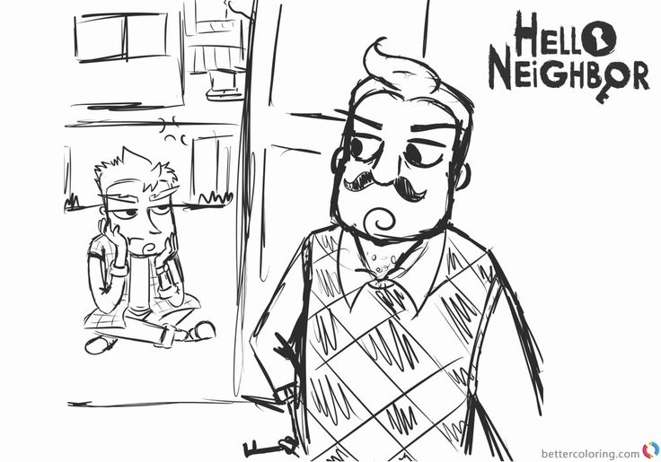 24 Hello Neighbor Coloring Page | Coloring pages ...
