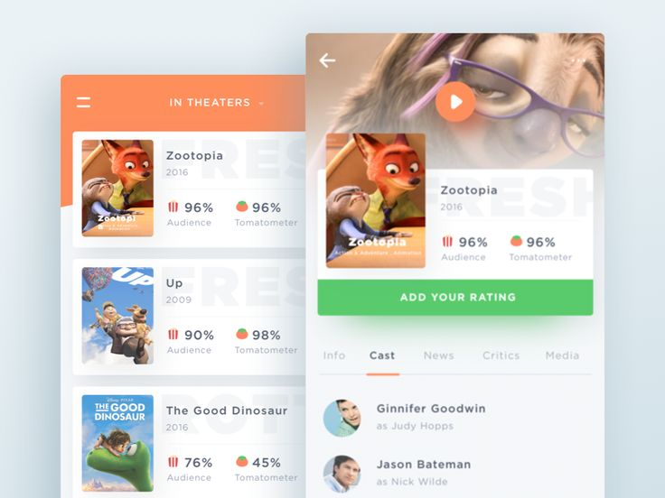 Rottentomatoes App Concept