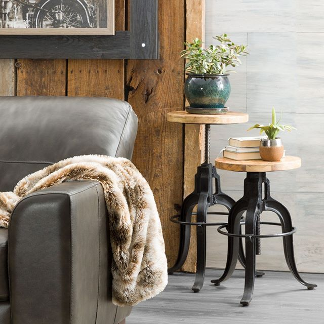These Vintage Industrial Stools Can Be Used As Side Tables Or For Extra Seating Vintage Vintag American Furniture Furniture Furniture Warehouse #side #stools #for #living #room