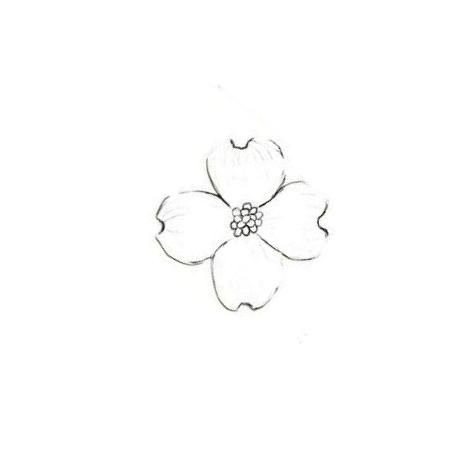 Found on Weddingbee.com Share your inspiration today!  Dogwood tattoo design I want in white ink