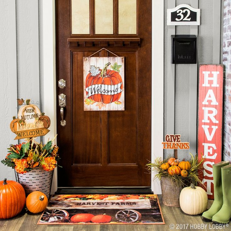 this fall perk up your porch with outdoor pumpkin decor - Outdoor Pumpkin Decorations