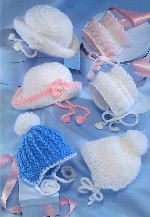 Baby Boys Girls Bonnet Helmet Hat Fair Isle Shoes Mittenss KNITTING PATTERN DK