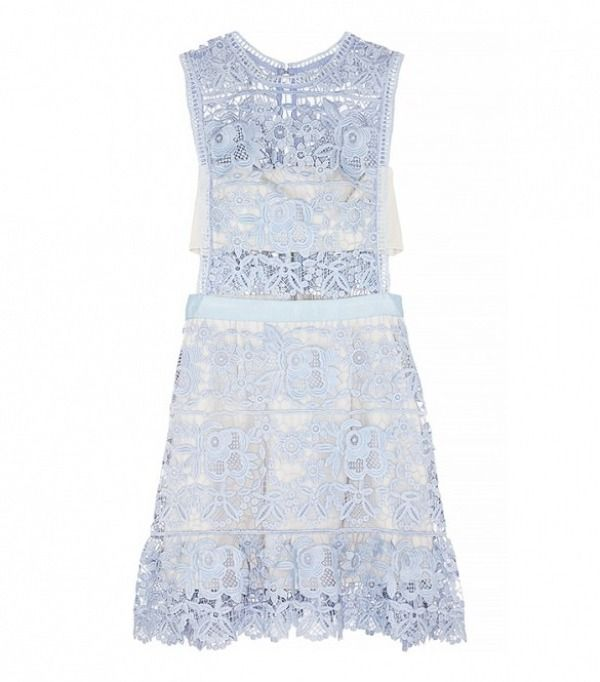 Self-Portrait Guipure Lace Mini Dress: http://www.stylemepretty.com/2015/07/09/lauren-conrad-on-wedding-guest-style-dos-and-donts/