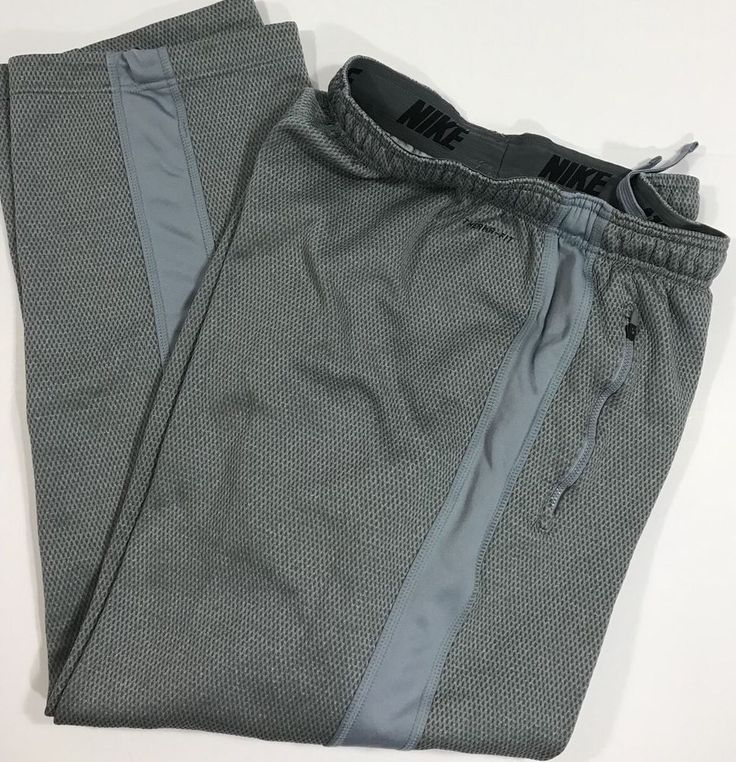 NIKE Therma-Fit Thermal Athletic Pants Fleece Lined Sweat Mens Sz XL Waffle  | eBay