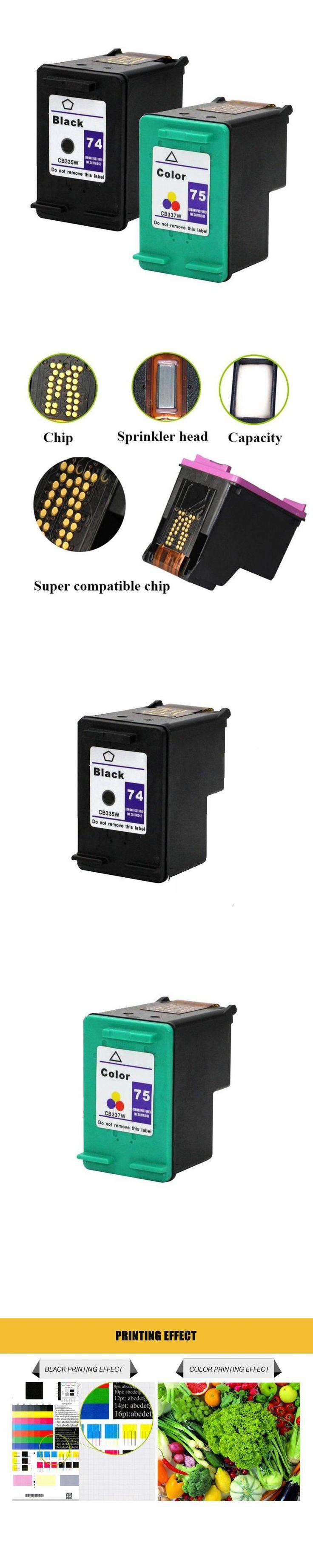 For HP 74 75 Ink Cartridge for HP74 75 smart C4200 C4280 C4480 C4345 C4380 C4385