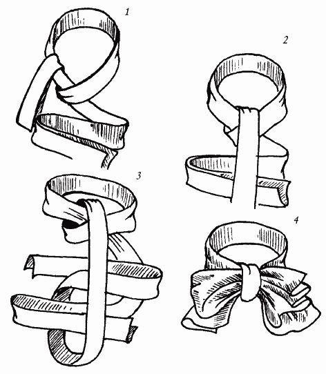 Классический бант. Узлы для галстука, парео и шарфов.