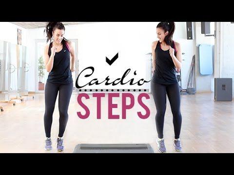 Ejercicios de cardio con steps | 12 minutos - YouTube