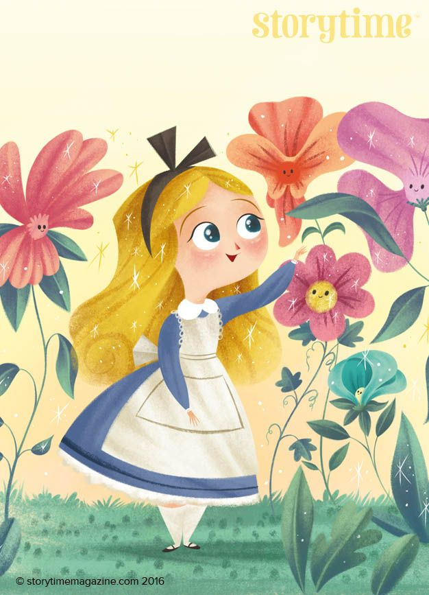 A stunning Alice illustrated by Katya Longhi (http://www.katyalonghi.com) for Storytime Issue 21's Alice Through the Looking-Glass ~ STORYTIMEMAGAZINE.COM