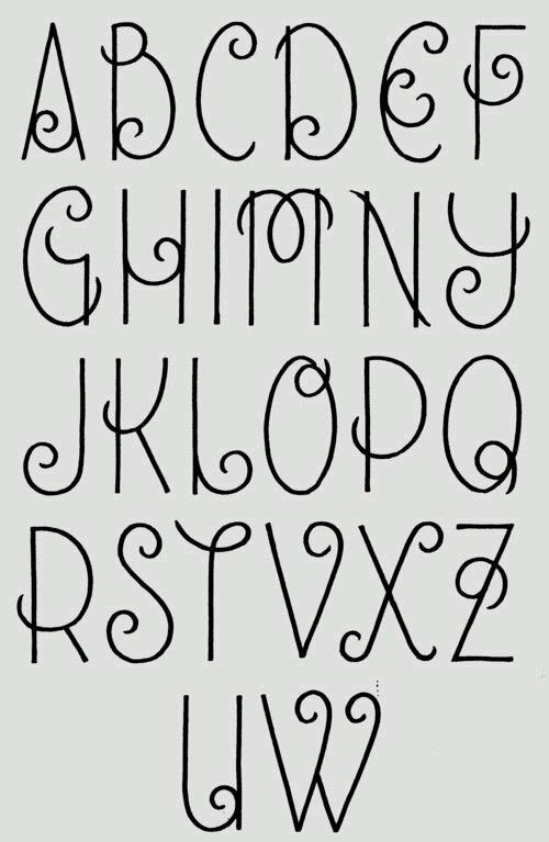 dit lettertype heb ik nagemaakt met oude sieraden