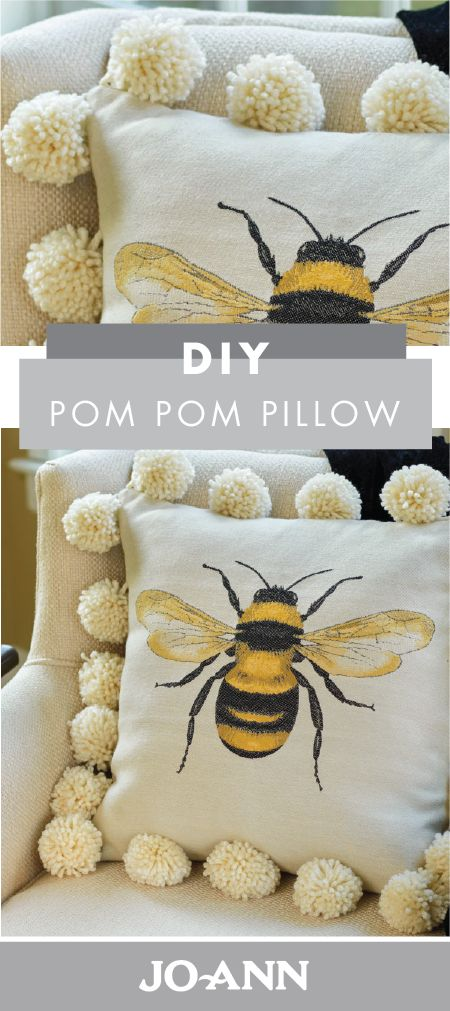 Learning to make your own pom poms—doesn't that just sound like the best craft idea?! Check out how you can put your new skills to use by creating this DIY Pom Pom Pillow from Jo-Ann for your spring home decor.