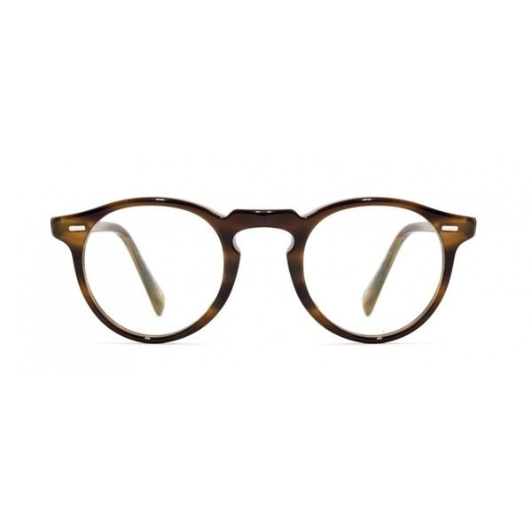 Oliver Peoples Gregory Peck Optical Eyewear ($340) ❤ liked on Polyvore featuring accessories, eyewear, eyeglasses, glasses, sunglasses, fillers, oliver peoples, oliver peoples eyewear, acetate glasses and vintage eyewear