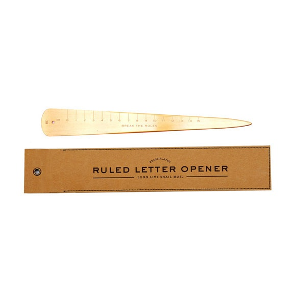 Ruled Letter Opener.