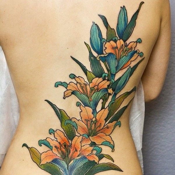 20 Tiger Lily Flower Foot Tattoos Ideas And Designs