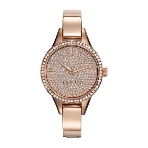 Esprit Damenuhr in roségold Zirkonia ES109062003 https://www.thejewellershop.com/ #esprit #uhr #lederarmband #watch #jewelry #uhren #schmuck #roségold #zirkonia
