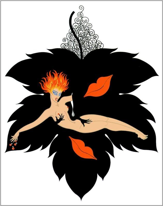 Erté,  Seven Deadly Sins Series,  Lust: Art Illustrations, Art Inspiration, Dead Sinslust, Fabulous Erté, Art Deco, Artsy Smartsi, Erté Romaine, Graphic Artist, Seven Dead Sin
