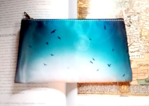 Pencil Case/Makeup Bag. Blue Birds Hipster by CandyMountainPhotos, €7.00