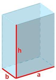 Dibujo del volumen del prisma rectangular