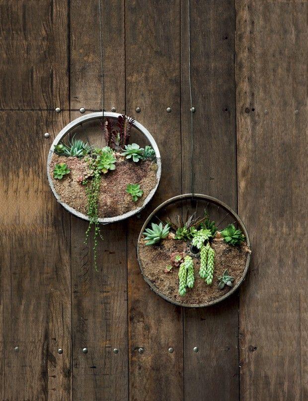 Com uma dose de criatividade, objetos do cotidiano podem ser transformados em itens de decoração no jardim. Inspire-se nas montagens produzidas pela artesã Claudia Regina, da La Calle Florida, e coloque mais verde em sua vida