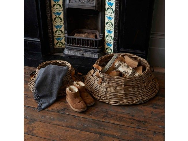 Have a look at these wonderful chunky cane trapezium #baskets. A really unusual and stylish low and wide basket, with broad real leather carry handles. Perfect for logs by the fireside or for toys or magazines/newspapers. A really decent size but not too tall, so they won't dominate your space. #livingroom #home #storage